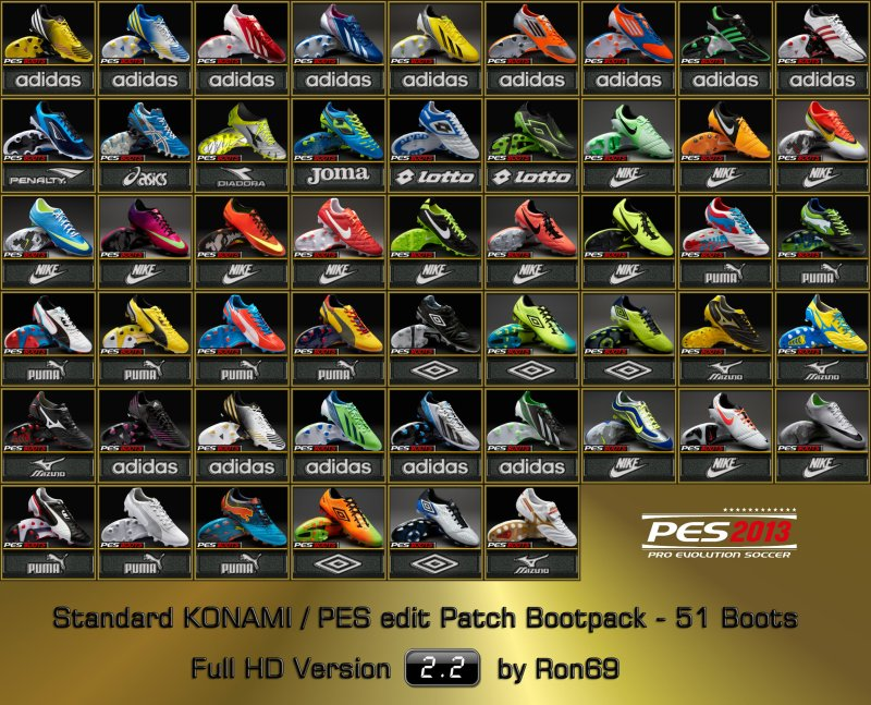 pes 2013 boot pack