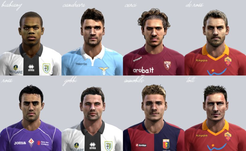 pes 2013 serie a face