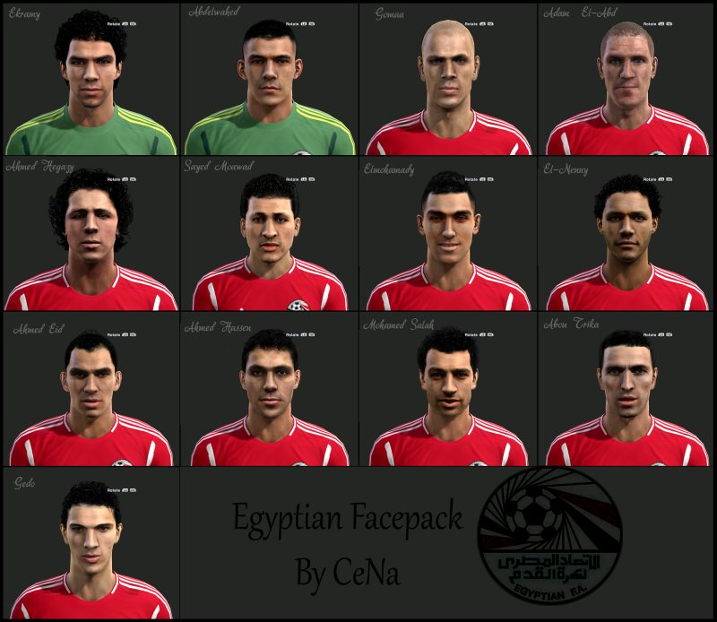 pes 2013 egyptian face pack