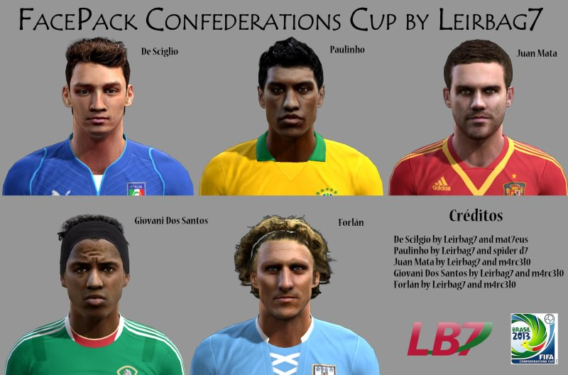 pes 2013 confederations cup face pack