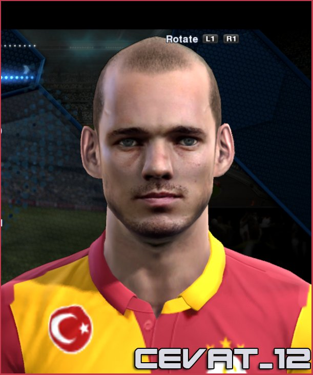 pes 2013 sneijder face