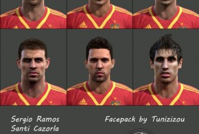 pes 2013 spain ispanya yüz paketi face pack