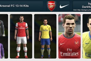 pes 2013 arsenal 2014 forma kit