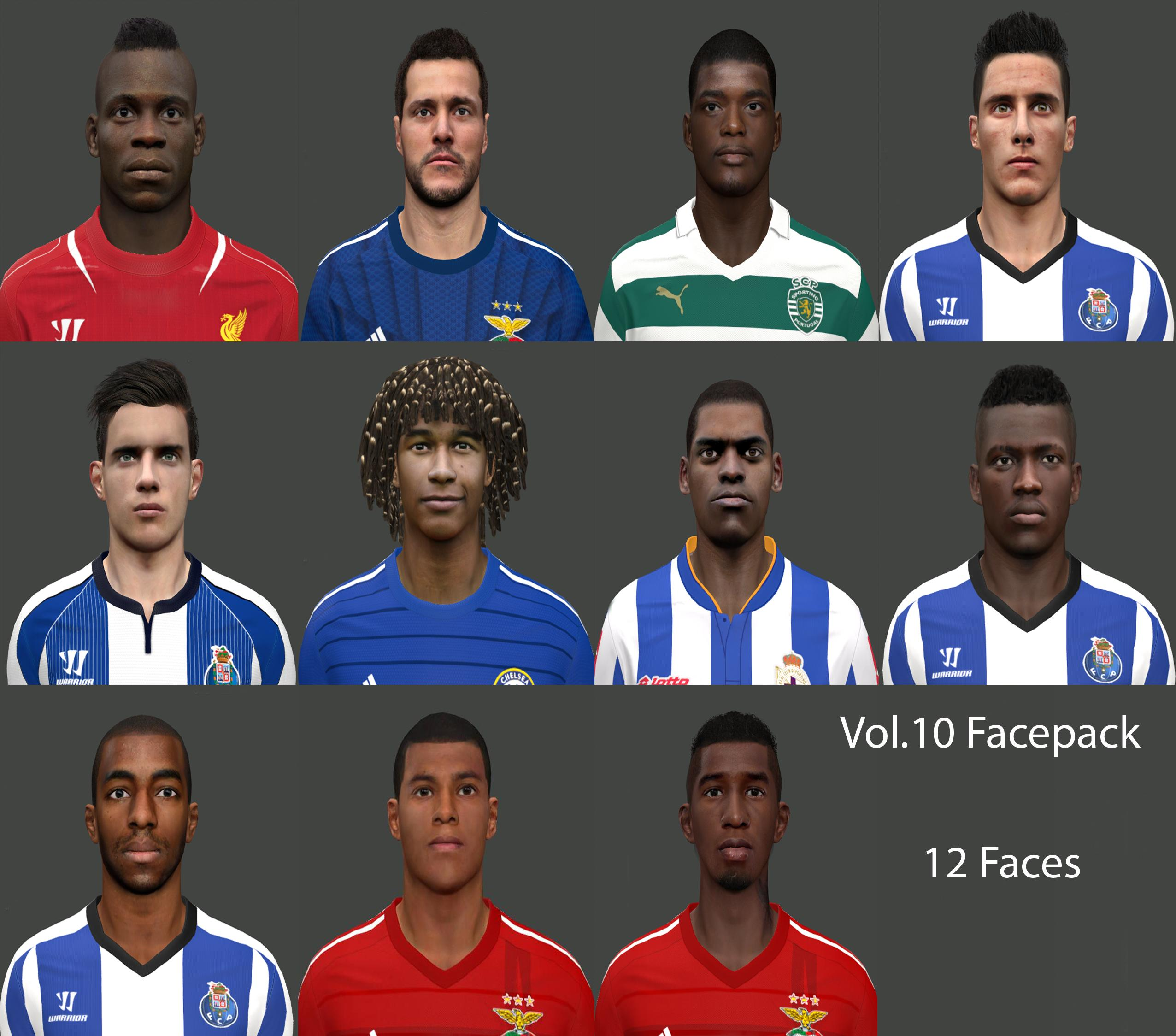 PES 2014 Facepack Vol.10 by miguelrioave